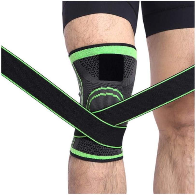 rodillera baloncesto Rodillera 3D de tejido presurizaci/ón rodillera de apoyo profesional para deportes de protecci/ón senderismo ciclismo