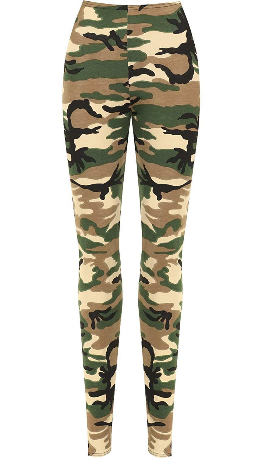 c02a78413a602 WearAll Womens Plus Camouflage Army Print Elacticated Ladies Full Length  Long Leggings 14-22: Amazon.co.uk: Clothing
