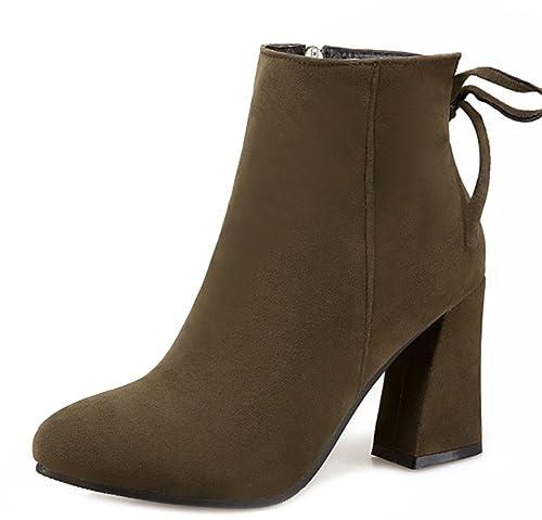 Mujer 43 es Amazon Color Zapatos Verde Aisun Botas Para Talla YqP8PE