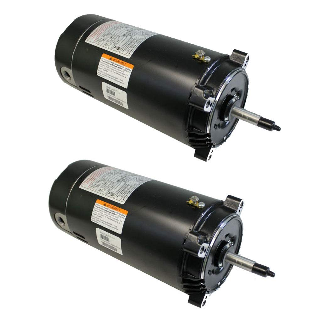 A.O. Smith UST1102 1 Hp Swimming Pool/Spa Replacement Motor C-Flange Hayward 56J (2 Pack)