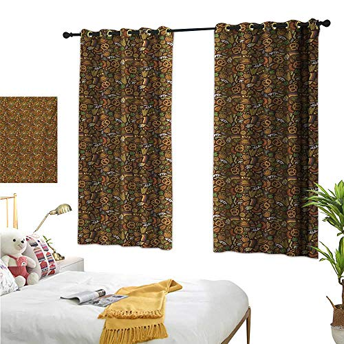 Superlucky Decorative Curtains for Living Room,German,55