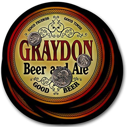 Graydonビール& Ale – 4パックドリンクコースター   B003QX6J8K