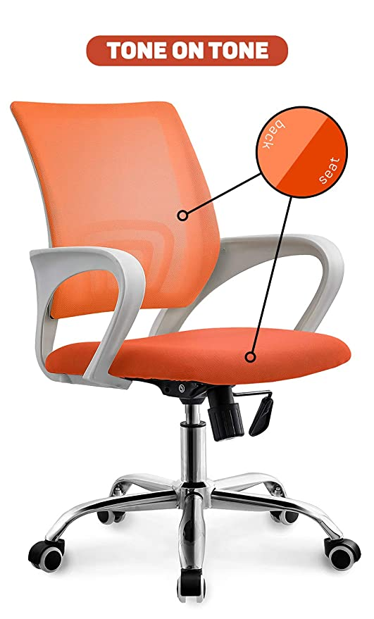 Awesome Neo Chair Office Chair Computer Desk Chair Gaming Ergonomic Mid Back Cushion Lumbar Support With Wheels Comfortable Brown Mesh Racing Seat Pdpeps Interior Chair Design Pdpepsorg