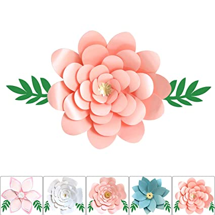 One Phoenix Pearl Cardstock Crafts Handmade Paper Flowers For Baby Room Wall Decor Diy Birthday Party Decoration Unicorn Theme Ornament 16 Inch X
