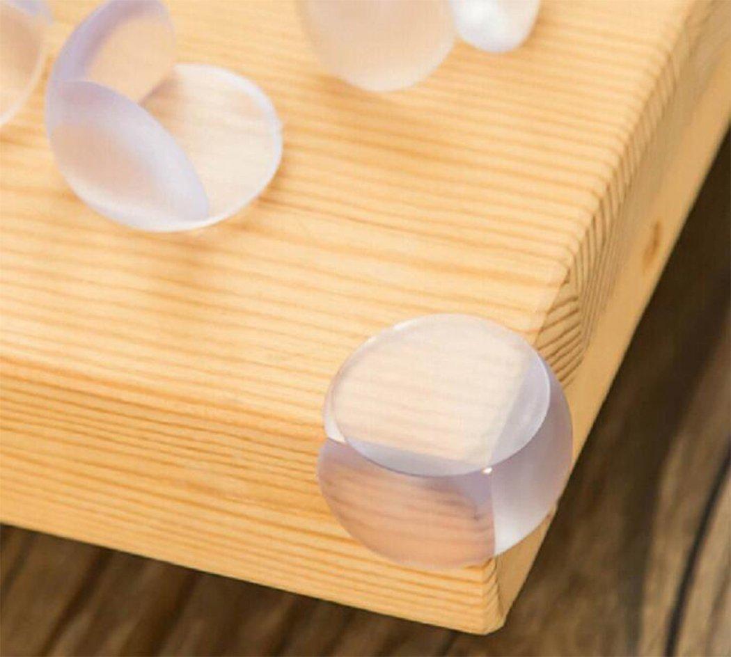 discretas cubiertas transparentes sistema de 12 sonrisa en forma de L tablas ayuda a proteger contra topetones y lesiones Hillento protectores de la esquina de la prueba del beb/é accesorios de la seguridad del ni/ño para los muebles