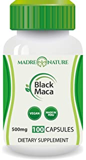Madre Nature - Organic Gelatinized Black Maca Root from Peru - Max Strength 1000mg Per Serving