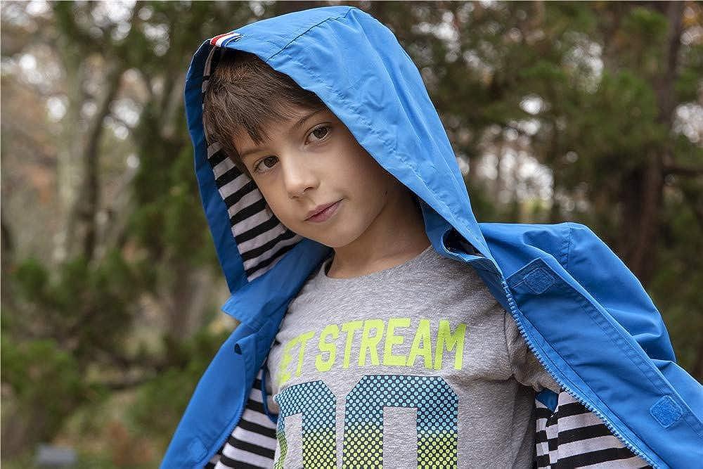 c4f9beccac23 Amazon.com  Hiheart Boys Girls Waterproof Hooded Jackets Cotton ...