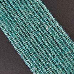 Elan Beads Apatite Beads Faceted Round Beads, 5mm