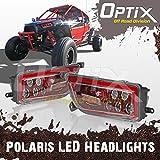 Optix 2015-2017 Polaris RZR 1000 XP Style Red LED Headlight - Fits Polaris General and Polaris RZR