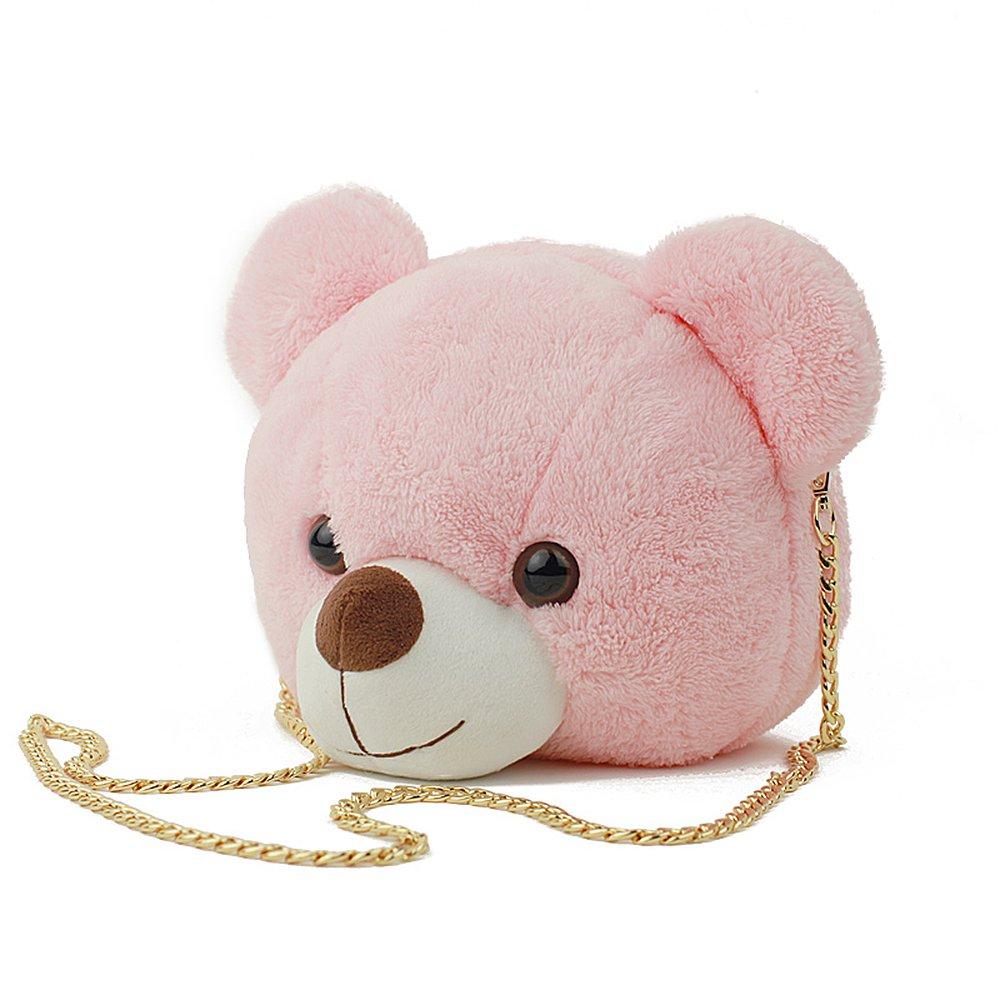 YSMYWM レディース  ピンクの熊 B076WCXWS7
