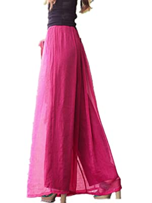Women Casual Pants Wide Leg Trousers Elastic Fashion Palazzo Lounge Pants