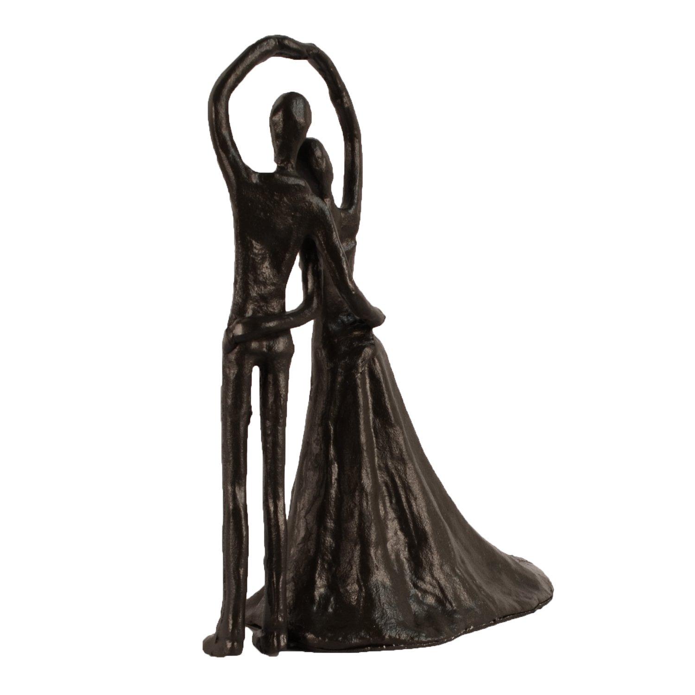 Elur AI//324 Wedding Dance Iron Figurine Mocha 9x16x19 cm