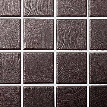 Mosaik Fliese Keramik Braun Struktur Für BODEN WAND BAD WC DUSCHE KÜCHE  FLIESENSPIEGEL THEKENVERKLEIDUNG BADEWANNENVERKLEIDUNG Mosaikmatte