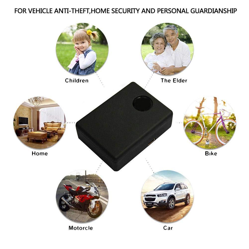 rastreador de GPS Dispositivo de rastreo de GPS antirrobo Localizador de SMS Seguimiento en Tiempo Real Global para veh/ículos//Motocicletas//Bicicletas//ni/ños//Billetera AITOCO Mini rastreador de GPS