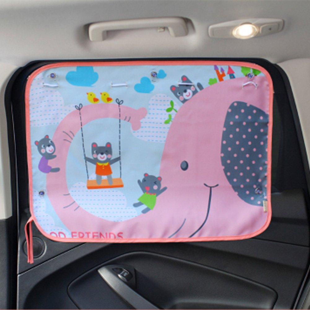 Tirzah Parasol universal para ventanilla de coche bloquea los rayos UV da/ñinos y los rayos del sol.