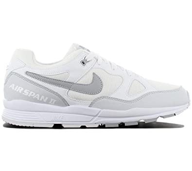 the best attitude e917d 7ba70 Nike Herren Air Span Ii Laufschuhe Mehrfarbig (White/Wolf Grey/Pure  Platinum 105