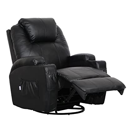 amazon com esright massage recliner chair heated pu leather