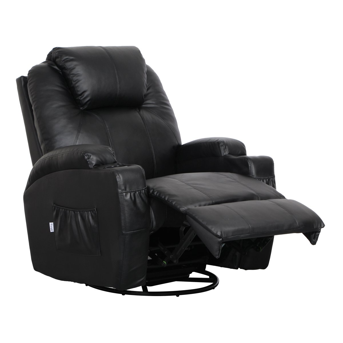 Massage Therapy Leather Chair Recliner Heat Club Seat