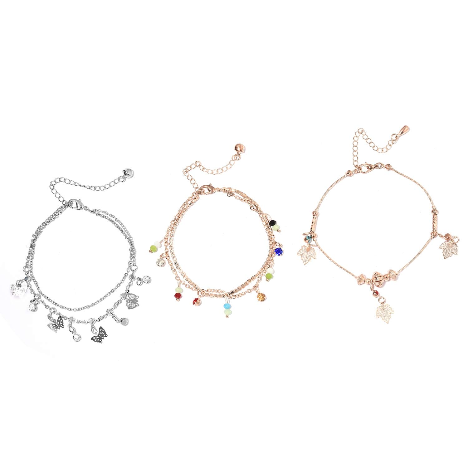 Shop LC Beads Multi Color Glass Multi Gemstone Anklet
