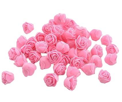 SkyEye 1 bolsa/50 pcs espuma flores de tela flor rosa ...