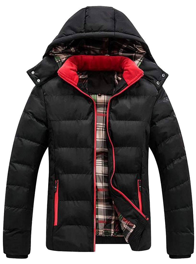 XiaoTianXinMen XTX Mens Packable Thick Winter Quilted Puffer Hooded Parka Coat Jacket