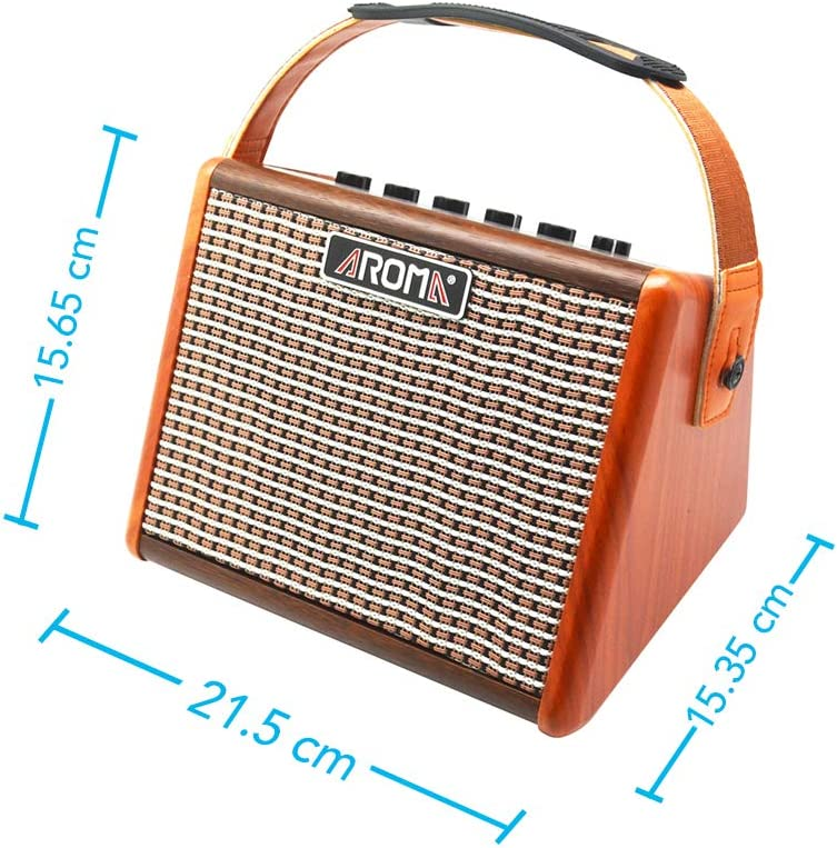 AROMA Mini Portable 5W Guitar Amp//Amplifier Recorder//Speaker with USB Cable to Recharge