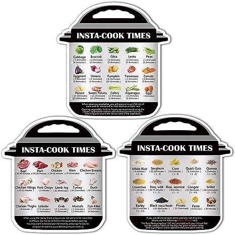Instant Pot Sticker Instant Pot Cooking Time Decal Instant Pot Cooking Time Chart