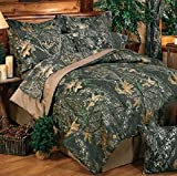 Mossy Oak New Break Up Camouflage 6 Pc TWIN Comforter Set (Comforter, 1 Flat Sheet, 1 Fitted Sheet, 1 Pillow Case, 1 Sham, 1 Bedskirt) SAVE BIG ON BUNDLING!