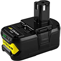 Energup P108 Lithium Battery 18V 5000mAh with Recharge Indicator for Ryobi 18-Volt ONE+ Tool P102 P103 P104 P105 P107 P108 P122