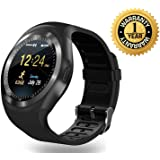Lambent Y1 Bluetooth Smartwatch with SIM and TF Card Support for All Smartphones - Assorted Color