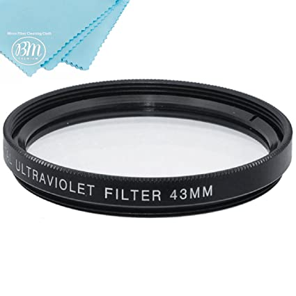 49mm Multi-Coated UV Protective Filter for Canon EOS M6, EOS M50, EOS M100  Mirrorless Digital Camera with 15-45mm Lens