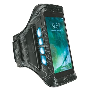 66750ffb3f4d Scosche LitFit Smartphone Armband with Safety LEDs | Full Touchscreen  Operability | Adjustable Armband | Lightweight