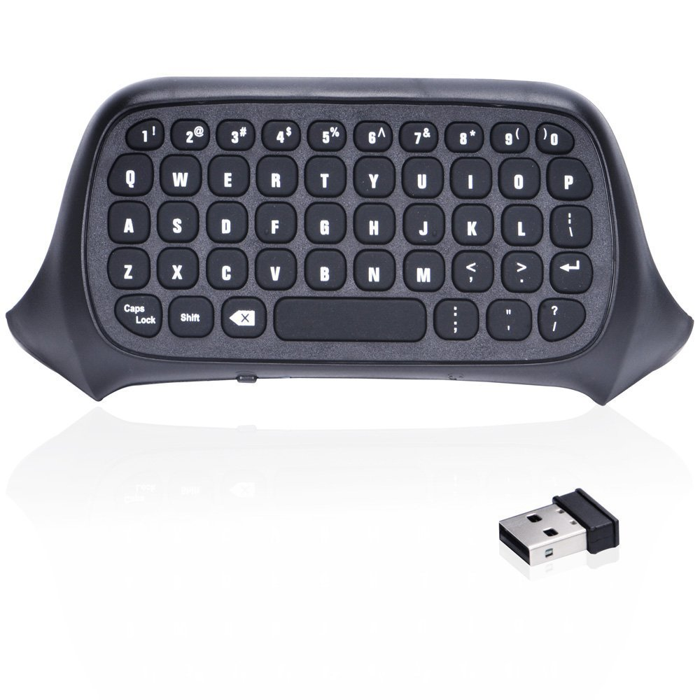 AGPtek New Mini 2.4G Wireless Chatpad Game Controller Keyboard for Xbox One Controller Black