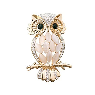 331d81d34dc Isajewelry Fashion Owl Brooch Ladies Brooches Pins for Women with Opal  Crystal: Amazon.co.uk: Jewellery