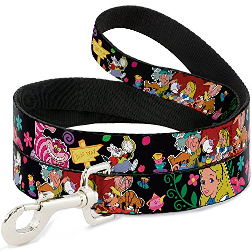 Buckle-Down Pet Leash - Alice's Encounters in Wonderland - 6 Feet Long - 1/2