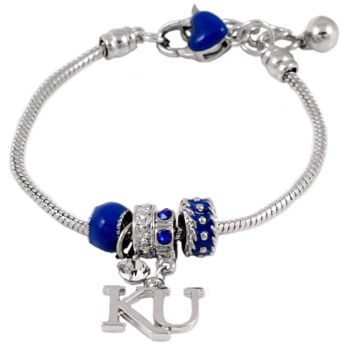 SANDOL Kansas Jayhawks MVP Charm Bracelet with KU Charm