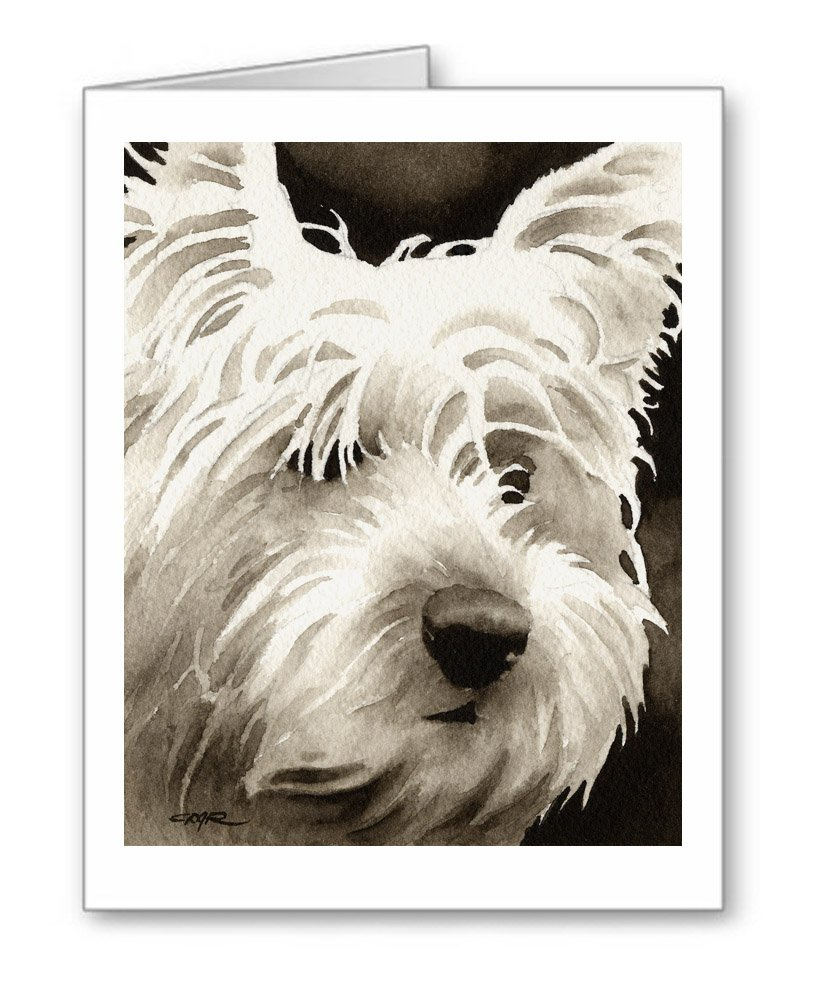YORKSHIRE TERRIER Set of 10 Note Cards With Envelopes