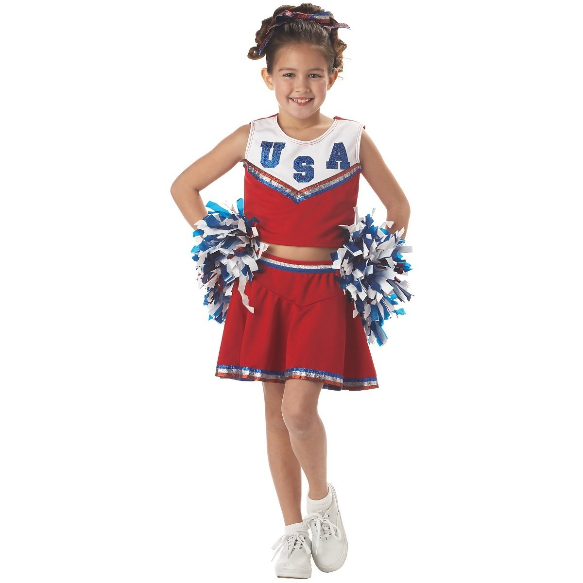 Amazon.com California Costumes Patriotic Cheerleader CostumeRedLarge Toys u0026 Games  sc 1 st  Amazon.com & Amazon.com: California Costumes Patriotic Cheerleader CostumeRed ...
