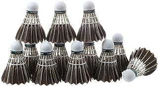 TOOGOO(R) 12x Entrainement noir plume d'oie Volants oiselets Badminton Balles Jeu Sport HANGYU SPHAGT60094