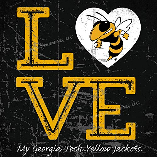 - Prints Charming College Love My Team Logo Square Color Georgia Tech Yellow Jackets Unframed Poster 13x13 Inches