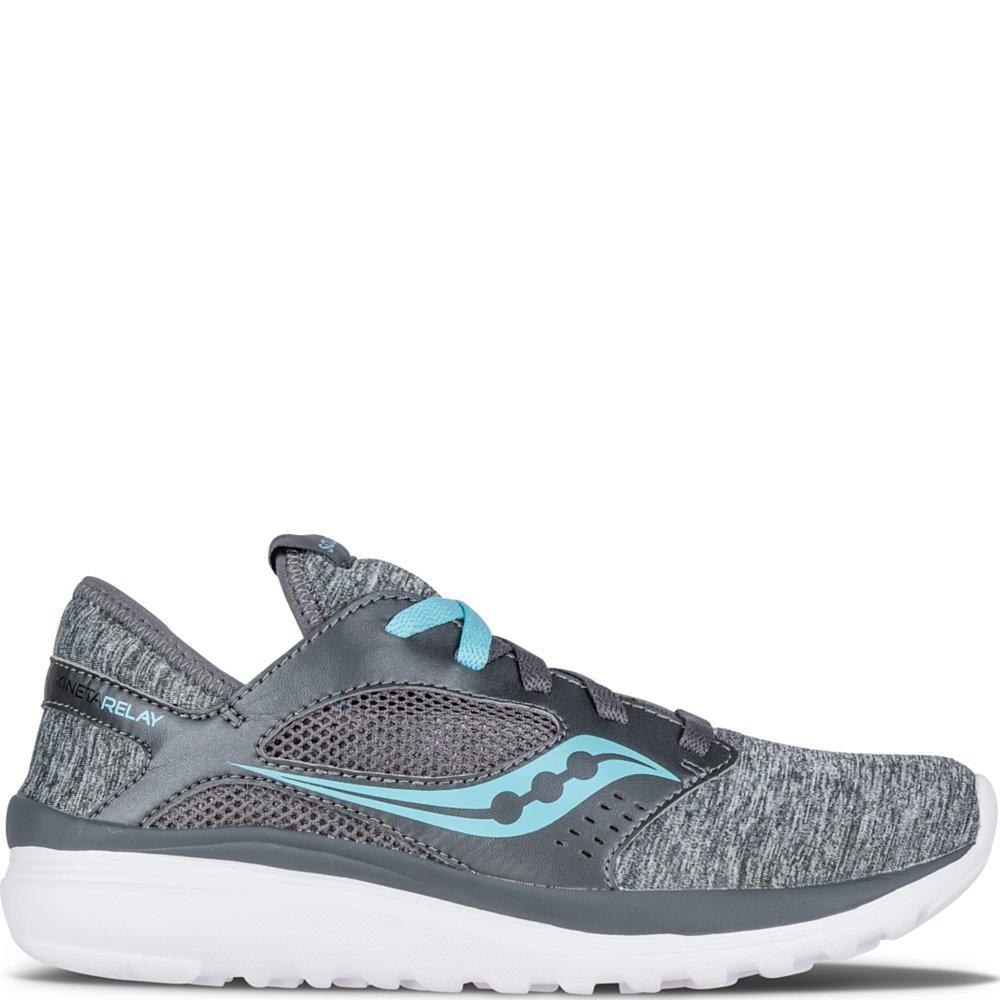 Saucony Women's Kineta Relay Running Shoe, Heather/Blue, 5 M US