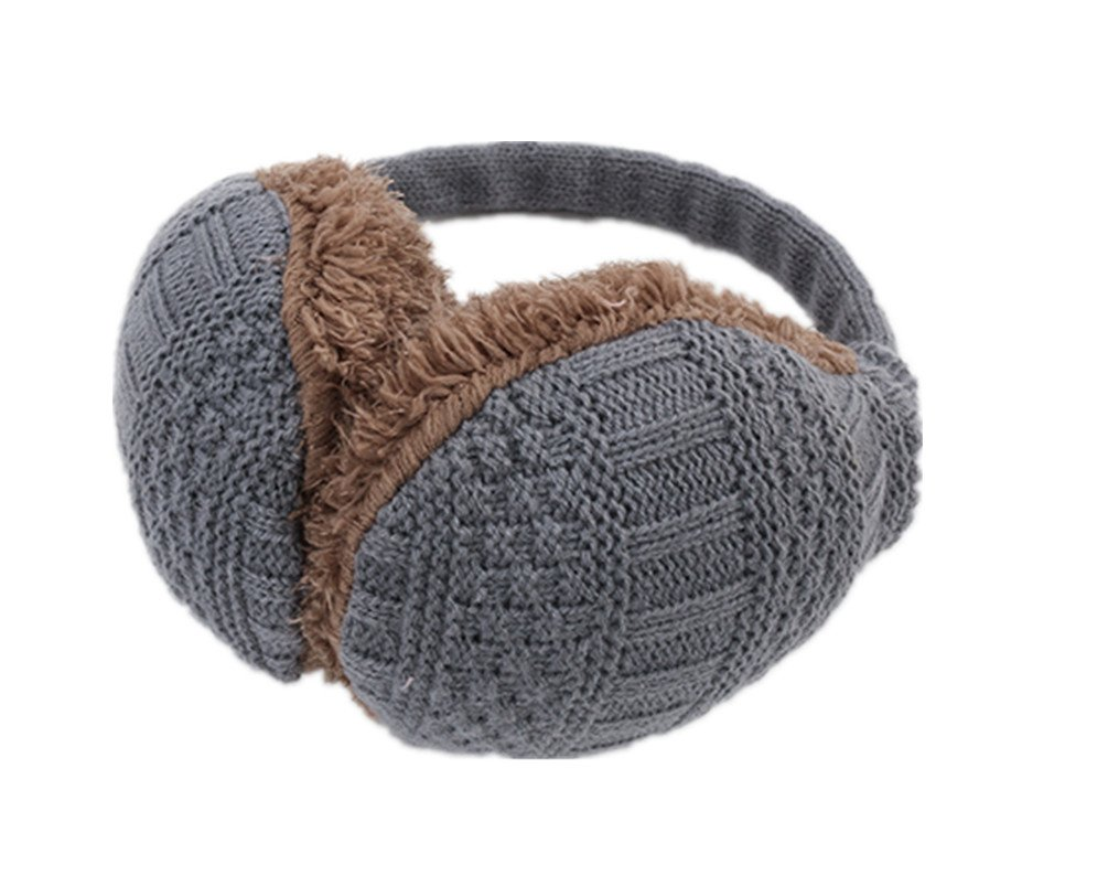 Winter Earmuffs with Knitted Design and Faux Fur Line Walker-Earmuffs