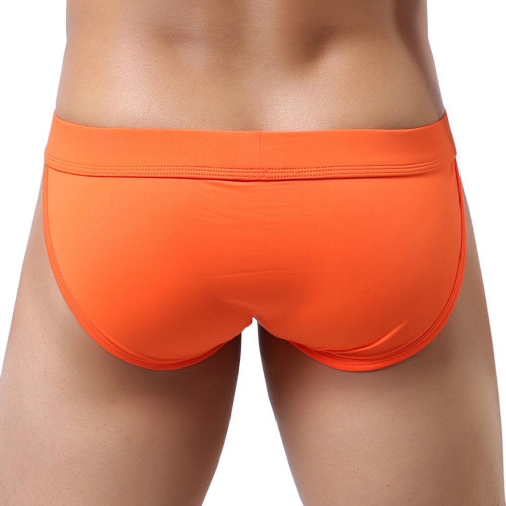 X/&F Mens Comfort Low Rise Bulge Pouch Bikini Brief Solid Boxer Underwears