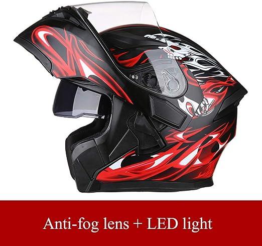 JIEKAI Casco De Moto Modular Doble Visera Rojo Negro Casco De Moto Hombre Modular M-XXXL 54-64cm Cascos Integrales De Moto Casco De Motocross Helmet Moto,Red Black-XXXL(63-64cm): Amazon.es: Hogar