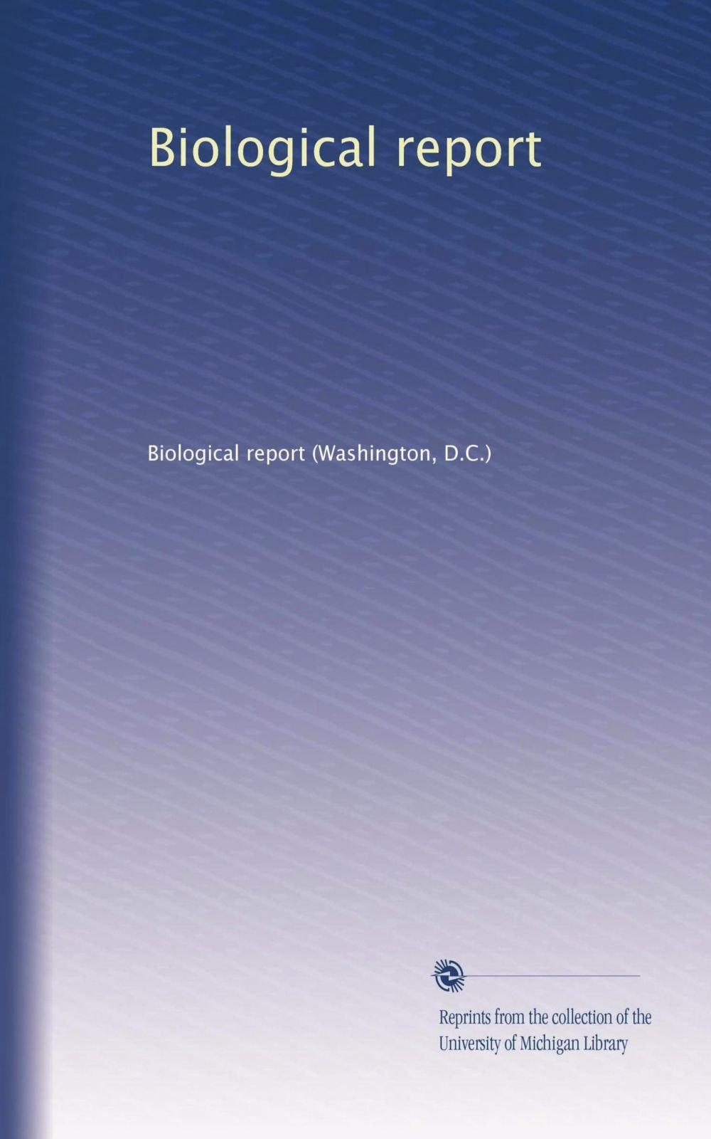 Download Biological report pdf epub