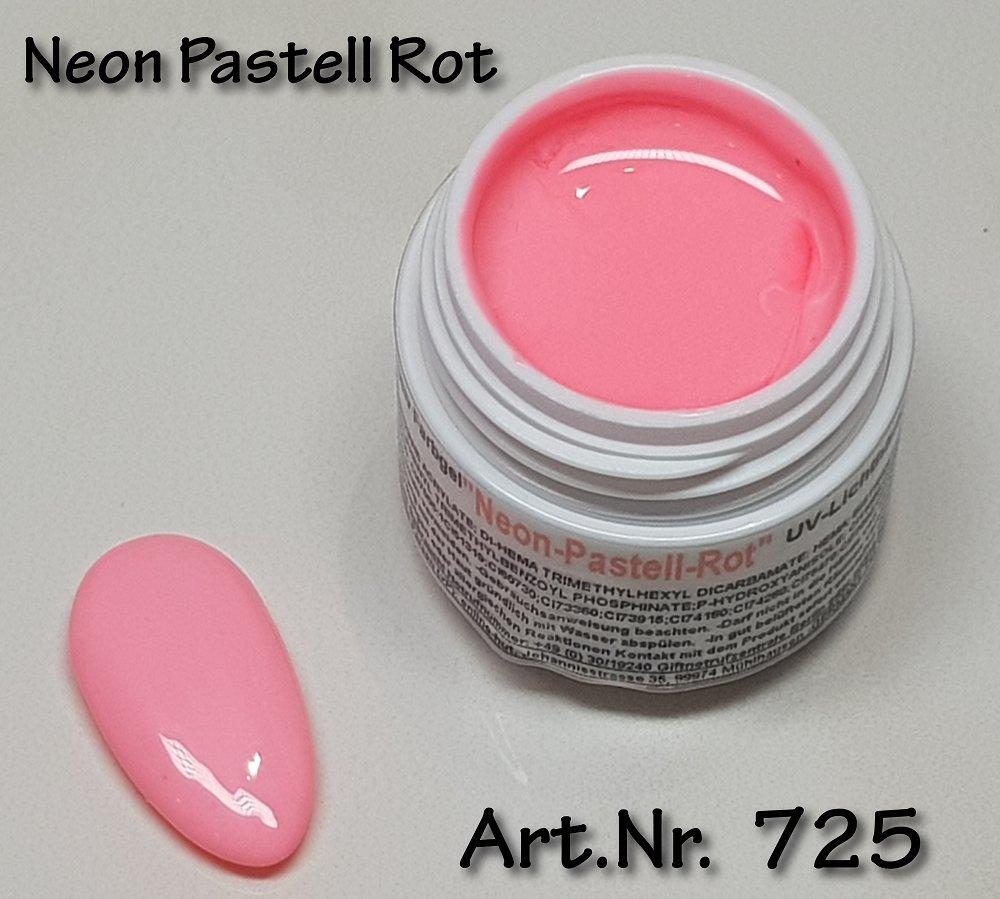 5ml UV Exclusiv Neon-Farbgel Pastell Rot