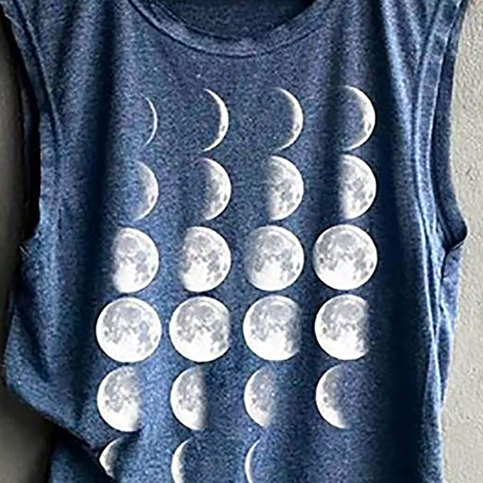 Amazon.com: Toponly Moon Change Cycle Printing Shirt Tank Top Muscle Shirt Tee Sport Pullover Tunic Tops Soft Comfortable: Appliances