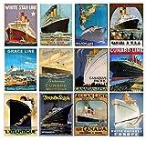 "Wall Calendar 2020 [12 pages 8""x11""] Ocean Cruise"
