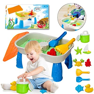 Angelhood 2 in 1 Sand Table Toys, Play Sand Table,Fun Playing Toys Suitable for Kids.: Home & Kitchen