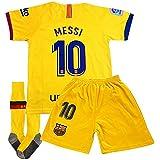 New Season Messi 10 Jersey Barcelona Away 2019/2020 Kids/Youth Jersey & Shorts & Socks
